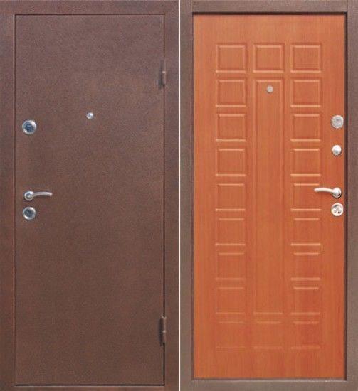 металлические двери порошок и пвх